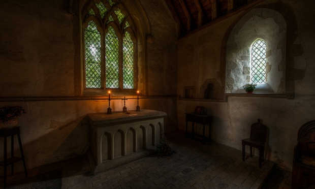 Chickney Church Altar by Mark Seton