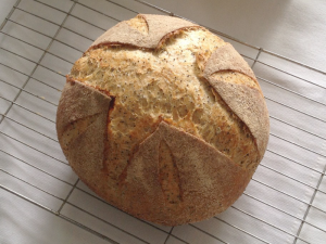 Pain Rustique version 4, with poppy seeds.