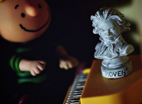 Schroeder and Beethoven by Steven Guzzardi