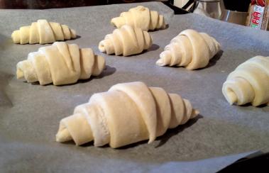 Croissants, proving